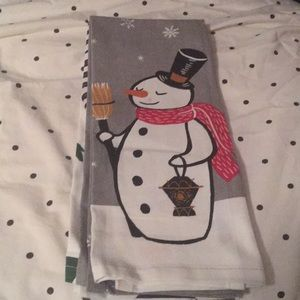 Other - Snowman Christmas tree kitchen tablecloths